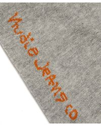 Nudie Jeans - Gray Grey Melange Zoom Socks for Men - Lyst