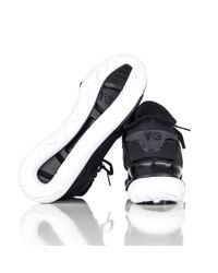 Y-3 | Black Qasa High Trainer for Men | Lyst