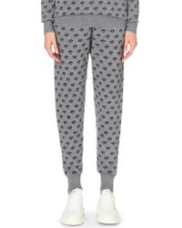 Markus Lupfer - Gray Lip-print Merino Wool Jogging Bottoms - Lyst
