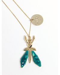 Patrizia Pepe | Metallic Costume Jewellery Necklace With Jewel Fly In Resin | Lyst