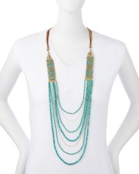 Nakamol - Blue Layered Magnesite Bead Necklace - Lyst