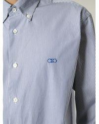 Ferragamo | White Striped Button Down Shirt for Men | Lyst