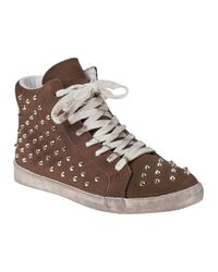 Steve Madden | Gray Twynkle Sm Studded Trainer Shoes | Lyst
