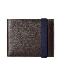 Lacoste | Brown Classic Premium Small Billfold for Men | Lyst