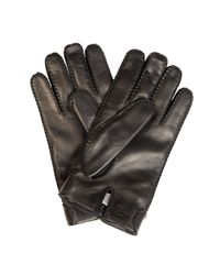 Valentino - Black Stud-Detail Leather Gloves for Men - Lyst