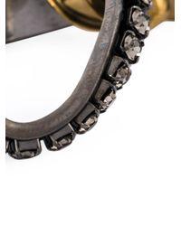 Lanvin | Metallic Embellished Earrings | Lyst
