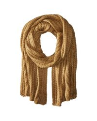 Hat Attack - Brown Rib Scarf - Lyst