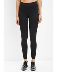 Forever 21 | Black Seam-stitched Leggings | Lyst
