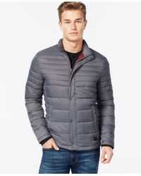Kenneth Cole - Metallic Quilted Puffer Hipster Jacket for Men - Lyst
