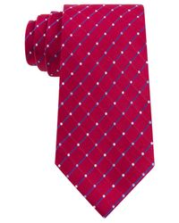 Geoffrey Beene - Red City Grid Tie for Men - Lyst