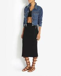 Rag & Bone - Black Veronica Rib Crop Top - Lyst