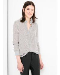 Mango - Black Printed Crepe Shirt - Lyst