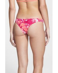 Volcom | Purple 'graffiti Beach' Cheeky Bikini Bottoms | Lyst