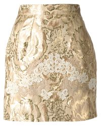 Dolce & Gabbana | Metallic Embroidered Skirt | Lyst