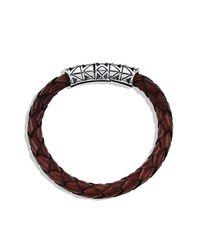 David Yurman - Brown Frontier Bracelet In Leather for Men - Lyst