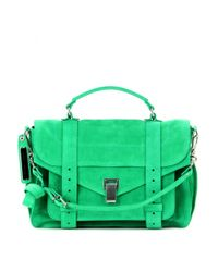 Proenza Schouler - Green Ps1 Medium Suede Tote - Lyst