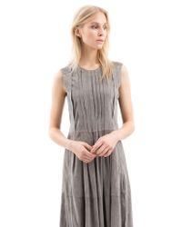 Iris Von Arnim | Gray Lederkleid Raja | Lyst