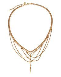 Chan Luu - Metallic Draped Mixed Chain Bib Necklace - Lyst