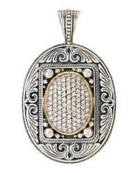 Konstantino - Metallic Extra-large Oval Diamond Pave Enhancer - Lyst