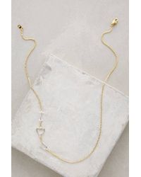 Anthropologie - Metallic Linked Love Necklace - Lyst