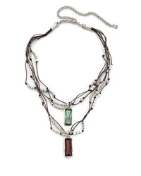Uno De 50 | Green Layered Swarovski Crystal Pendant Necklace | Lyst