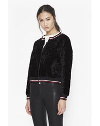 French Connection - Black Asta Lux Textured Jacket - Lyst