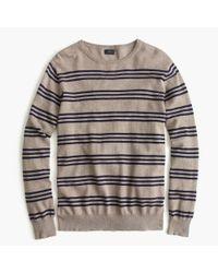 J.Crew - Natural Slim Cotton-cashmere Sweater In Triple Stripe for Men - Lyst