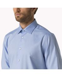 Tommy Hilfiger - Blue Cotton Fitted Shirt for Men - Lyst