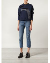 Acne Studios | Blue Pop Straight Cropped Denim Jeans | Lyst