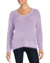 DKNY | Purple Eyelash Knit Sweater | Lyst