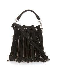 Saint Laurent | Black Emmanuelle Small Suede Cross-body Bag | Lyst