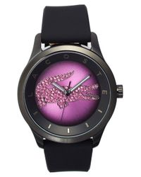 Lacoste - Black 'victoria' Crystal Dial Watch - Lyst