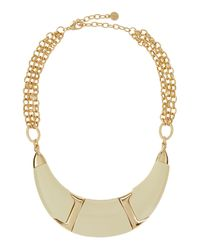 R.j. Graziano | Metallic Half-moon Collar Necklace | Lyst
