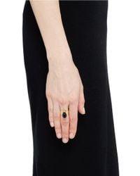 Ela Stone - Metallic 'marla' Spike Top Stone Ring - Lyst
