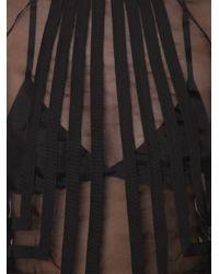 Nina Ricci - Black Sheer Blouse - Lyst