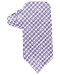 Vince Camuto | Purple Collodi Gingham Slim Tie for Men | Lyst