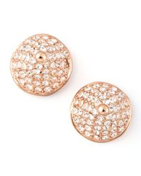 Eddie Borgo | Metallic Pave Crystal Conestud Earrings | Lyst