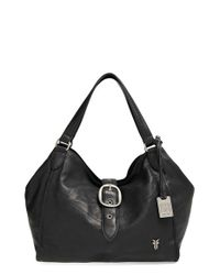 Frye | Black Belle Buckled-Leather Satchel  | Lyst