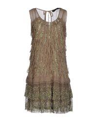 Twin Set | Green Short Dress | Lyst