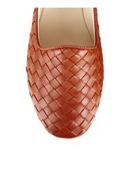 Bottega Veneta Brown Woven Leather Carpet Slipper