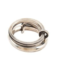 Werkstatt:münchen | Metallic Connected Ring for Men | Lyst