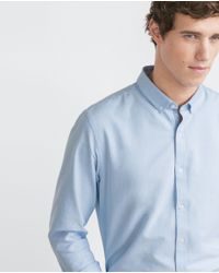 Zara | Blue Slim Fit Red Label Shirt for Men | Lyst