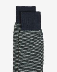 Ted Baker | Green Birdseye Stitch Wool Socks for Men | Lyst