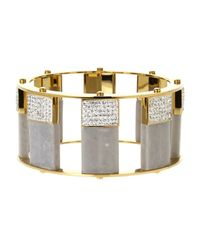 Lele Sadoughi | Metallic Tall Stackable Bangle | Lyst