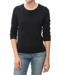 Monrow | Black Cashmere Crew Neck Sweatshirt | Lyst