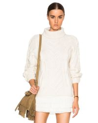 Ulla Johnson | White Bruna Turtleneck Sweater | Lyst