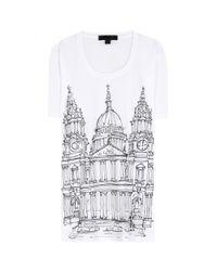 Burberry Prorsum - White Printed Cotton Tshirt - Lyst