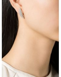 V Jewellery | Metallic 'marquise Curve' Lobe Earrings | Lyst