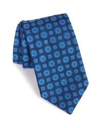 Eton of Sweden | Blue Medallion Print Silk Tie for Men | Lyst