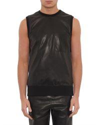 Helmut Lang | Black Bonded Leather Tank Top for Men | Lyst